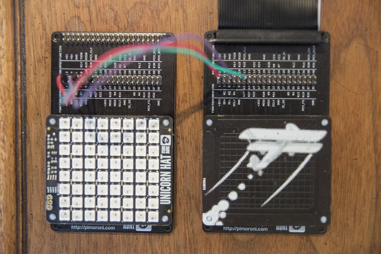 Unicorn HAT and Skywriter setup